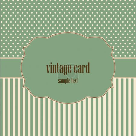 Photo for Vintage card, polka dot design. - Royalty Free Image