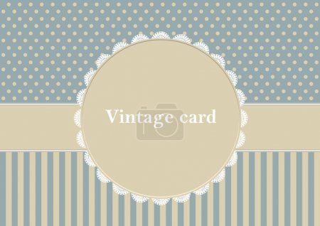 Photo for Vintage card, polka dot design - Royalty Free Image