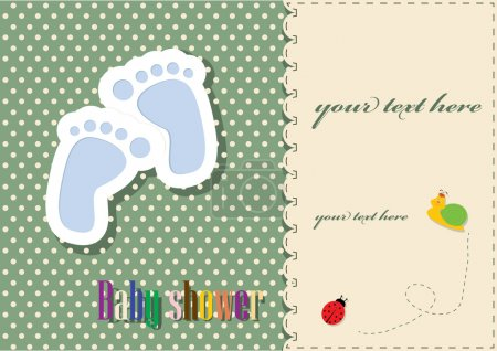 Photo for Baby shower - card template - Royalty Free Image