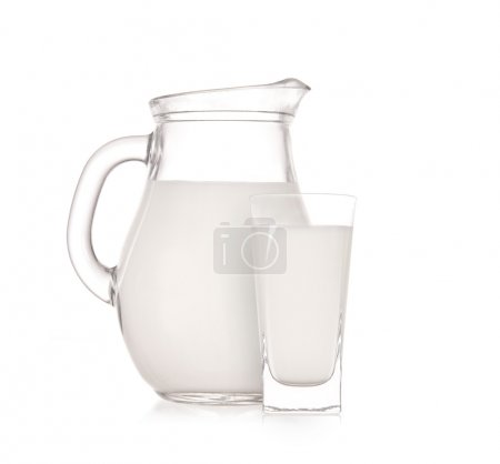 Milk jug with glass