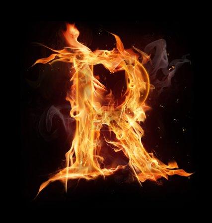 """Lettre alphabet feu """"R """""""