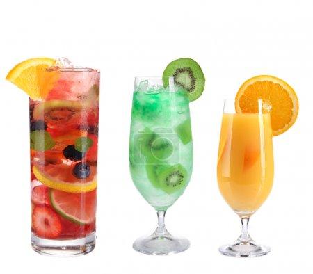 Photo pour Collection de cocktails de fruits - image libre de droit