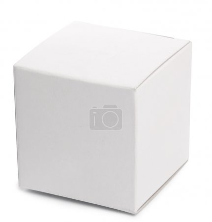 Photo for White box over white background. - Royalty Free Image
