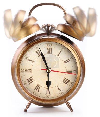 Alarm clock isolated on white.