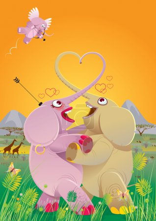 Love dance of elephants