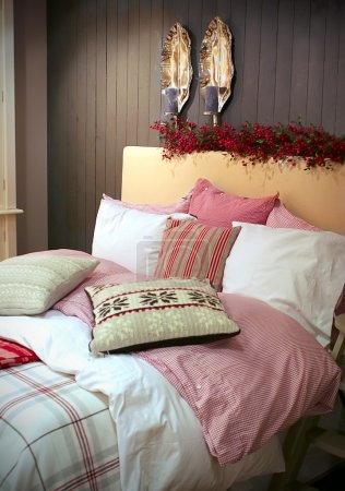 Winter decoration in sleeping-room