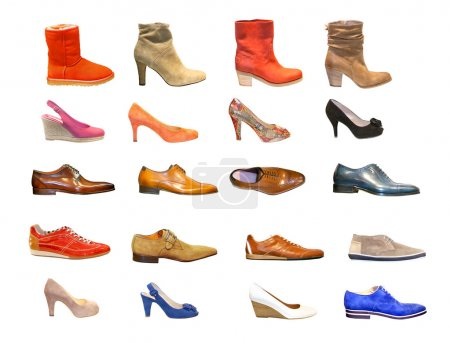 Photo for Sesonal man and woman shoes - Royalty Free Image