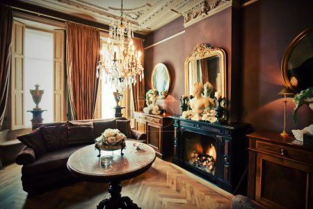 Foto de Habitación salón del hotel de lujo en estilo clásico - Imagen libre de derechos