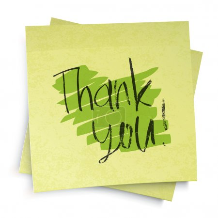 Illustration for Thank you! Vector illustration, EPS10 - Royalty Free Image