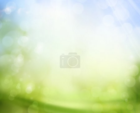Foto de Spring sky with sunlight natural bokeh background - Imagen libre de derechos