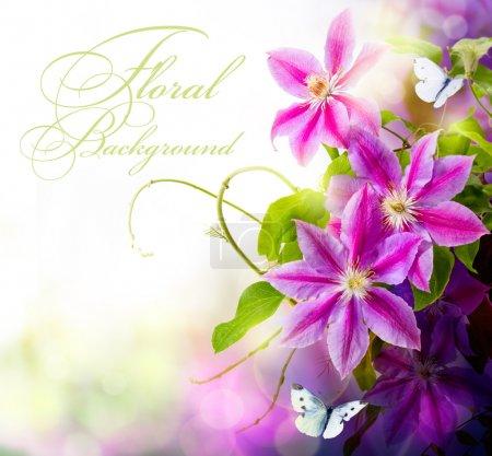 Photo pour Abstrait fond floral printanier - image libre de droit
