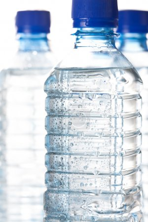 Cold bottled water