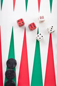 Backgammon game with dice