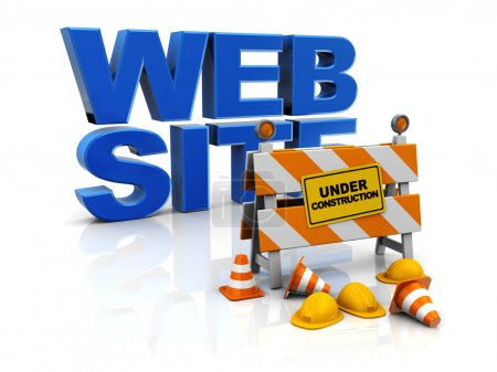 Photo for 3d illustration of web site construction concept - Royalty Free Image