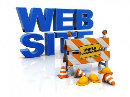 Photo pour Illustration 3D du concept de construction du site web - image libre de droit