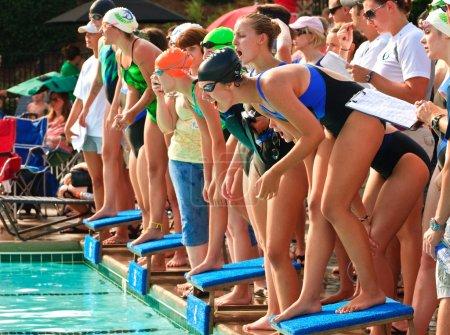 Swim Meet Competition Teen Girls