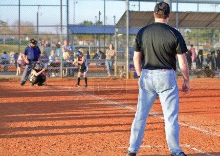 Girl's Softball Game