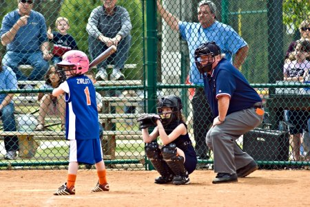 Girl's Softball Batter