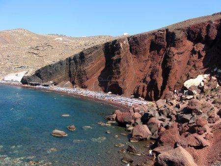 Red beach at Santorini Island, Greece