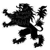 Black heraldic lion#2