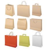 Paper bags set vector illustration