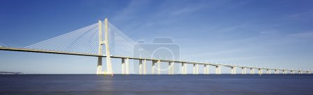 Photo for Panoramic viw of Vasco da Gama bridge in Lisbon - Royalty Free Image