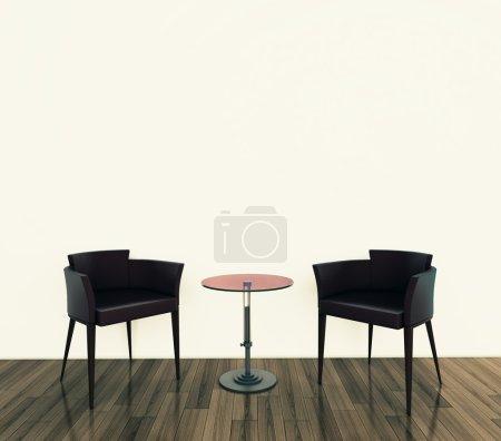 Photo pour Intérieur confortable moderne, image 3d. - image libre de droit