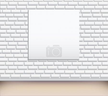 Ilustración de Cuadro vacío en una ilustración de pared. - Imagen libre de derechos