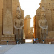 The entrance of Luxor Temple at dawn...