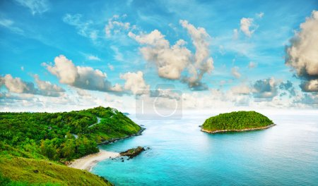 Photo for Tropical sea scenery. Panoramic composition in very high resolution. HDR processed. - Royalty Free Image