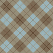 Seamless diagonal plaid pattern in blue and browns