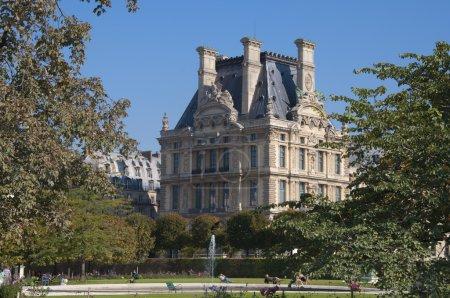 Beautiful view of Louvre palace