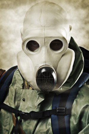 Man in gas mask