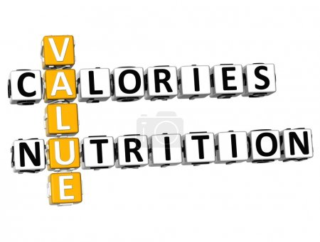 3D Values Calories Nutrition Crossword