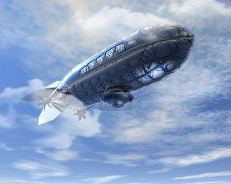 Футуристический воздушном шаре