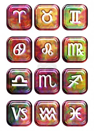 Astrology sign buttons
