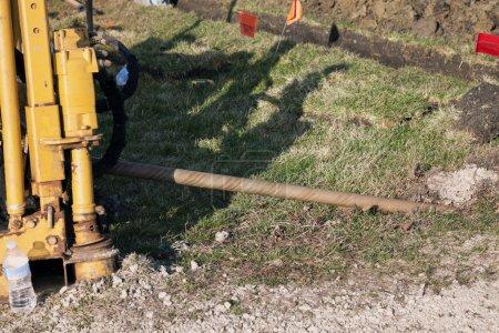"""Photo pour Usinage d'alésage directionnel et installation d'un conduit de 4 """" - image libre de droit"""