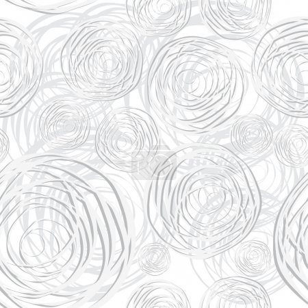Abstract circles seamless background