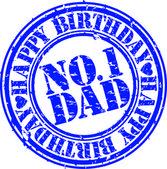 Grunge happy birthday dad vector illustration