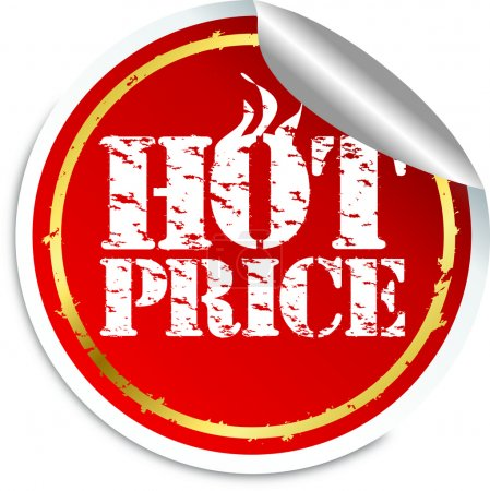 Hot price sticker, vector illustration
