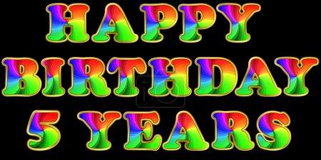 Illustration pour Joyeux anniversaire, 5 ans, illustration vectorielle - image libre de droit