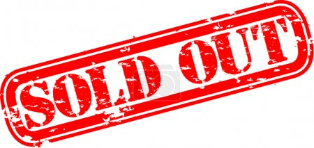 Illustration for Grunge sold out rubber stamp, vector illustration - Royalty Free Image