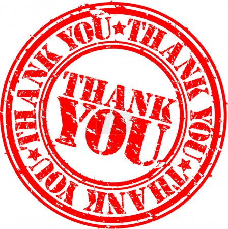 Illustration for Grunge thank you rubber stamp, vector illustration - Royalty Free Image