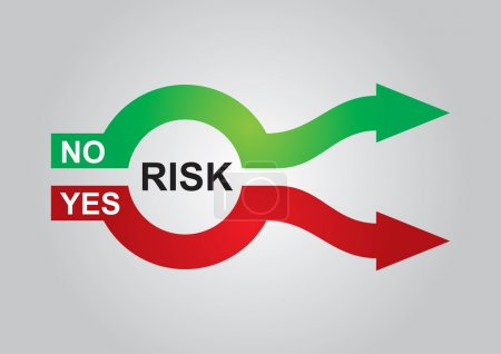 Illustration pour Graphiques en couleur abstrait, sur la gestion des risques - image libre de droit