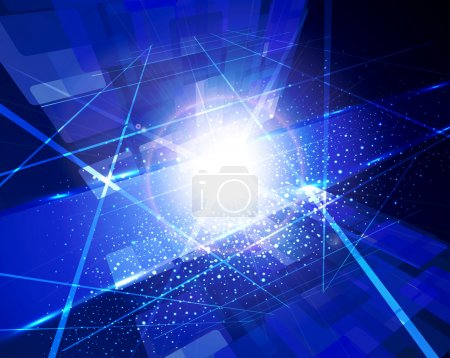 Bright-blue abstract background