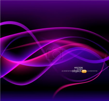 Illustration for Vector abstract, futuristic background - Royalty Free Image
