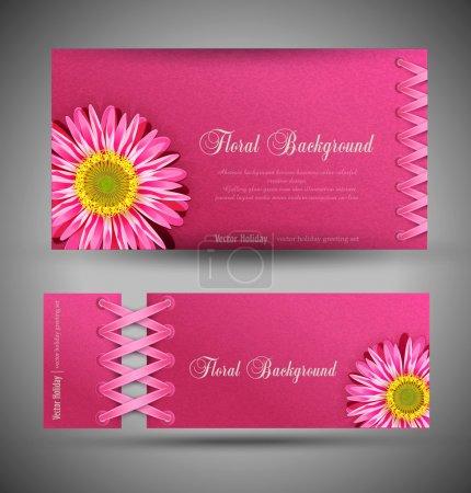 Illustration pour Ensemble vectoriel de rose avec fleurs (élément de conception de gabarit ) - image libre de droit