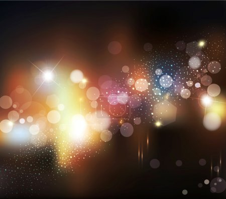 Illustration for Vector abstract background with blurred defocused lights - Royalty Free Image