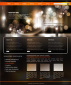 Vector website template for business