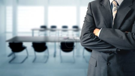 Photo for Businessman standing in a conference room - Royalty Free Image